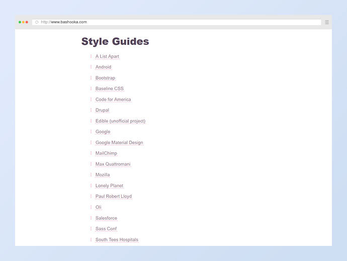 Long List of Style Guides and Pattern Libraries