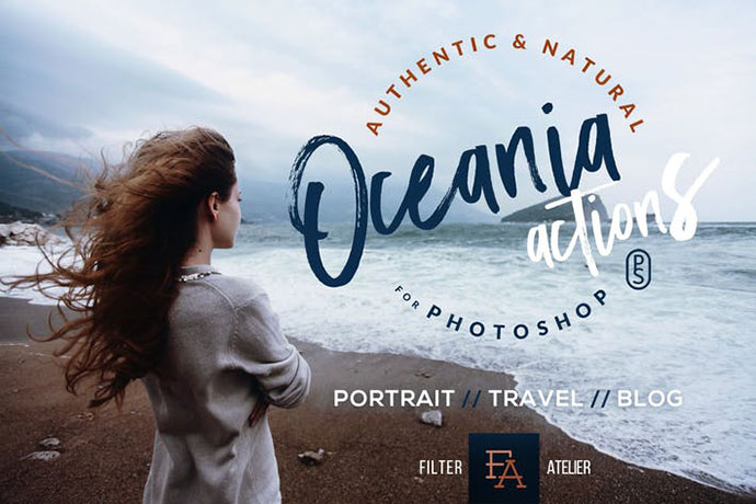 Oceania Photoshop Actions