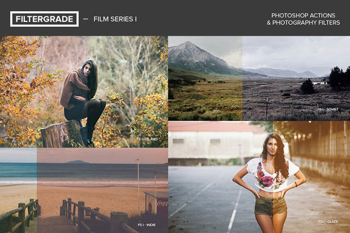 FilterGrade Film Series I Photoshop Actions
