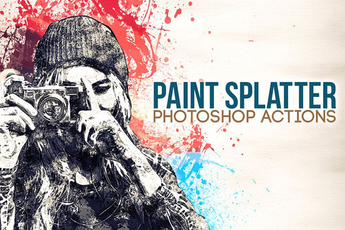 Paint Splatter - Photoshop Actions