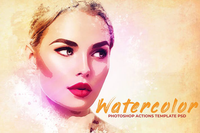 Watercolor Photoshop PSD Template