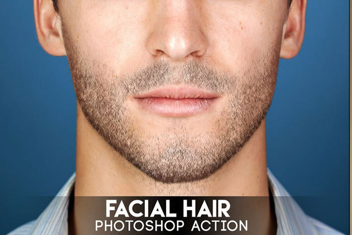 Facial Hair Photoshop Action