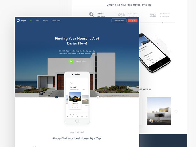Properties app landing page