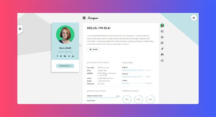 Creative Resume, CV & vCard