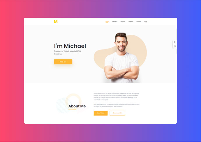 Mak - Personal Portfolio & Resume WordPress Theme