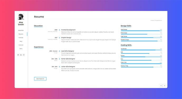 Resume / CV / vCard / Portfolio
