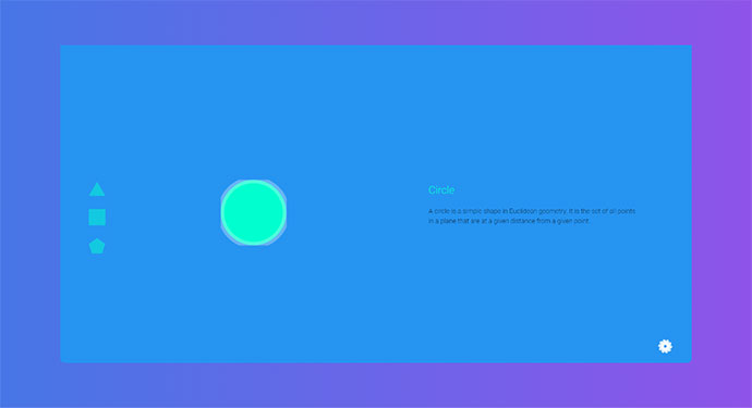 Material Design Shape Slider