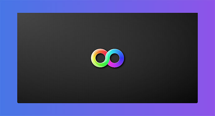 1 Element CSS Rainbow Gradient Infinity