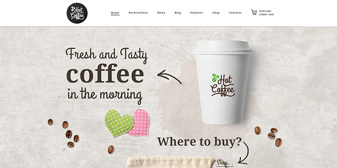 Hot Coffee | Cafe / Restaurant / Bar WordPress Theme