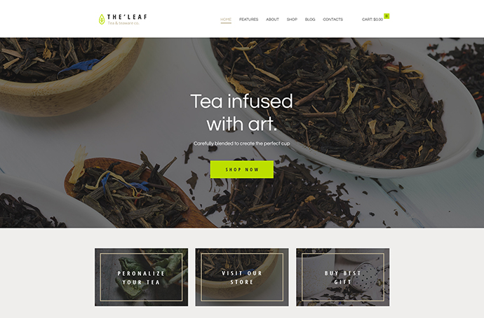 TheLeaf - Tea Production Company & Online Tea Shop WordPress Theme
