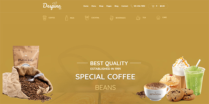 Despina - Coffee, Cake & Restaurant WordPress Theme
