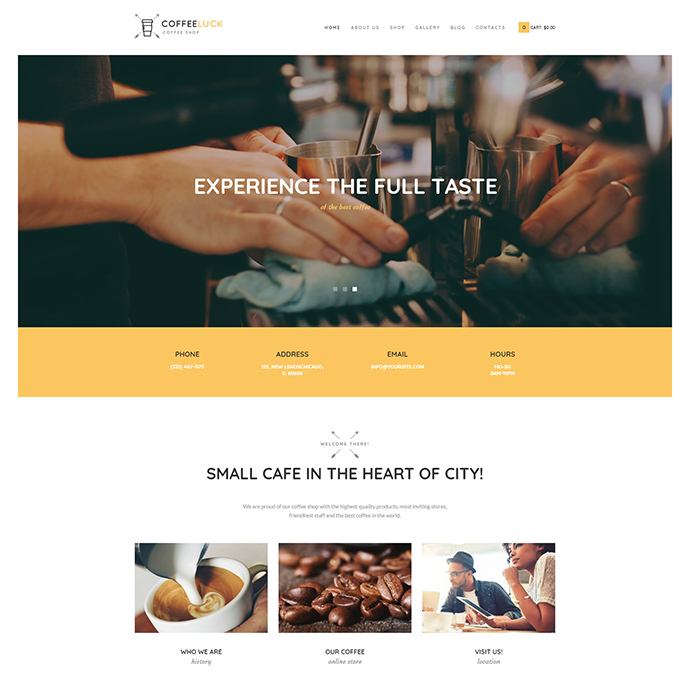 Coffee Luck | Coffee Shop / Cafe / Restaurant WordPress Theme