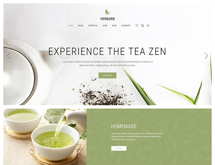 Verdure - Tea House and Organic Tea Shop Theme