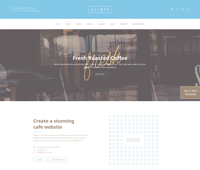 Salmon — Restaurant WordPress Theme