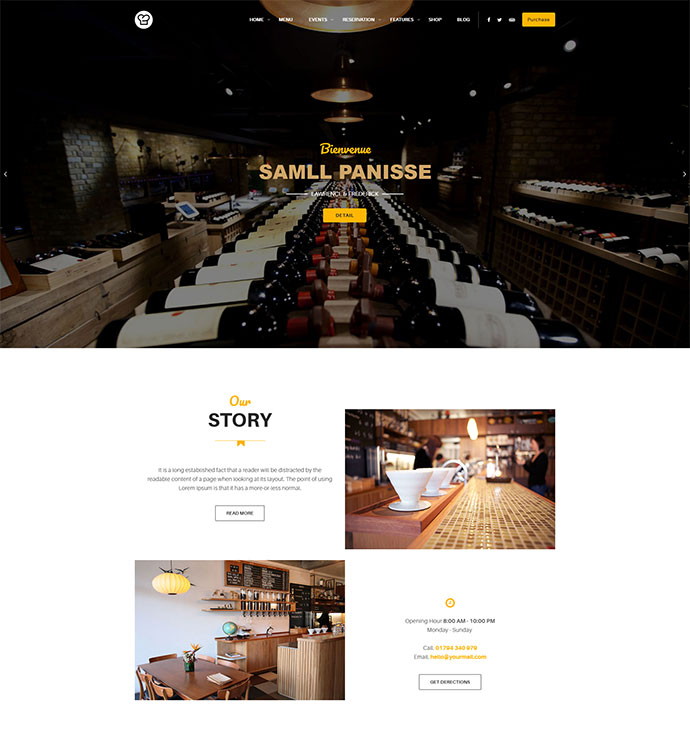 Restaurant WordPress Theme - Resca Restaurant