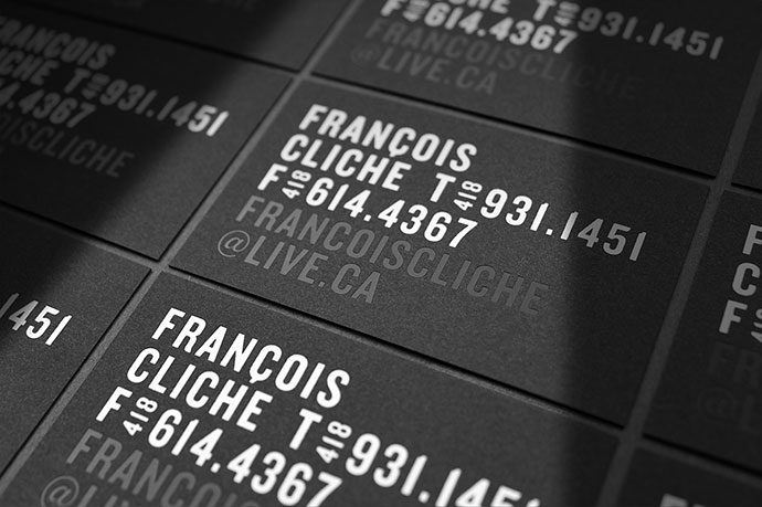 Francois Cliche - Business card