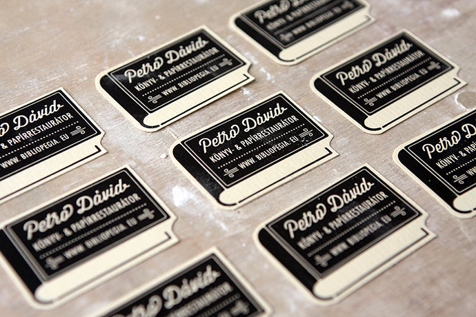 David Petro book & paper restorer corporate identity