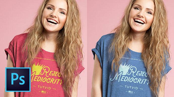 Create a Tshirt Mockup Composite Design in Photoshop CC