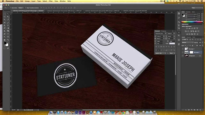 Business Card Mockup in Photoshop