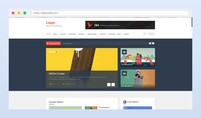 Logger - Magazine/Personal Blogging Theme