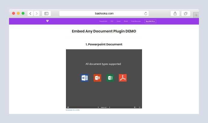 Embed Any Document Plus - WordPress Plugin