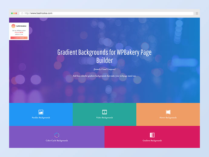 Video & Parallax Backgrounds For WPBakery Page Builder (formerly Visual Composer)