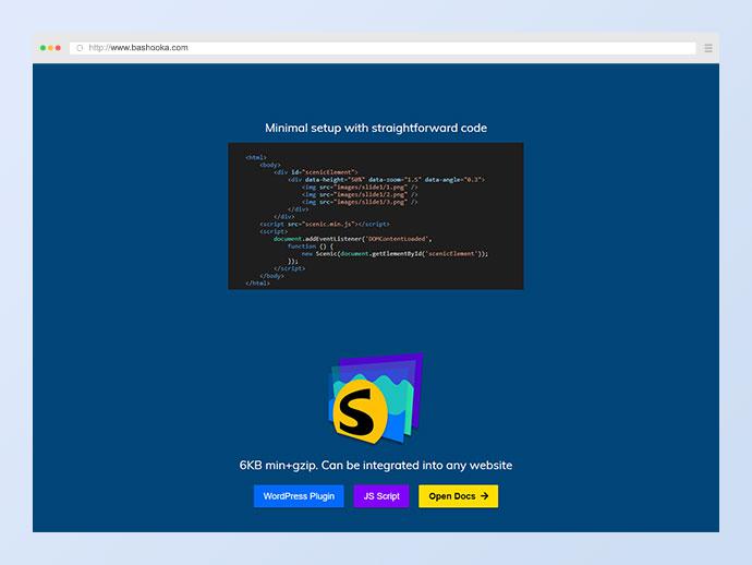 Scenic 3D Photo Parallax WordPress Plugin v1.3