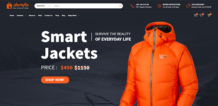 20 WordPress Themes For Selling Outdoor Gear