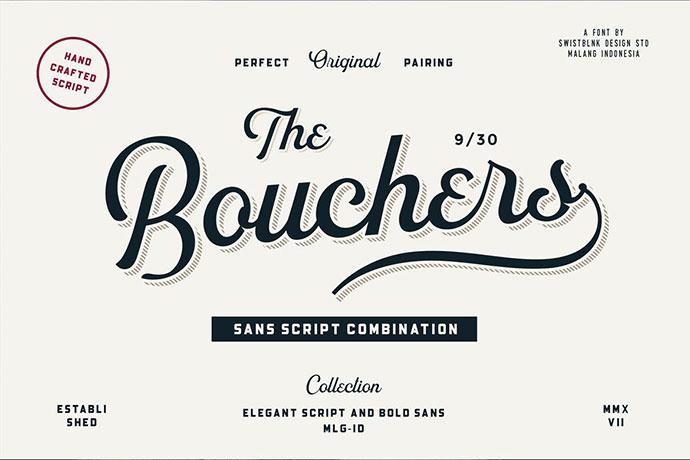 Bouchers Script Font Duo