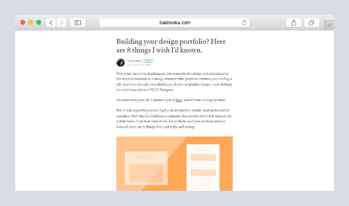 Building your design portfolio?