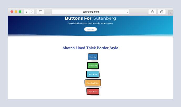 Buttons for Gutenberg