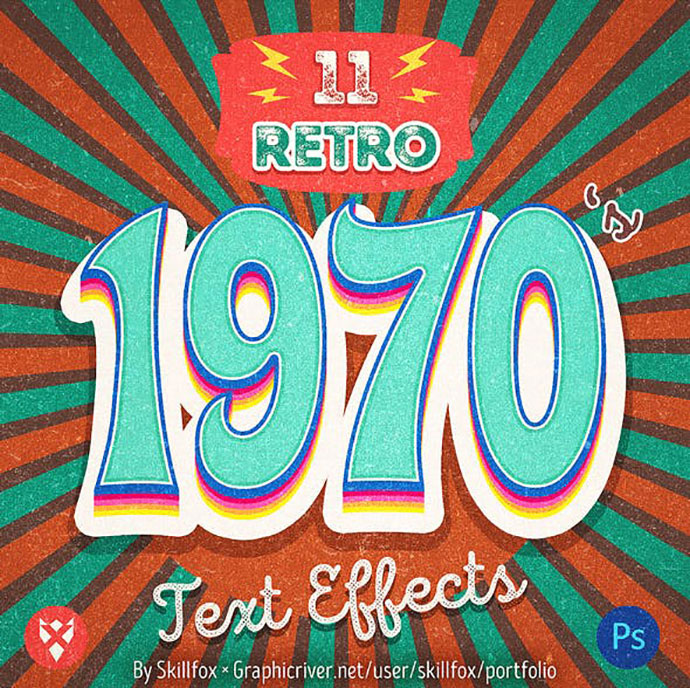 1970s Retro Text Effects