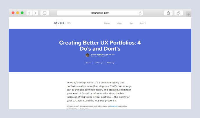 Creating Better UX Portfolios