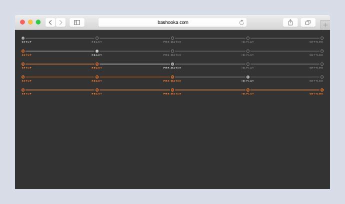 CSS status track using flex sizing