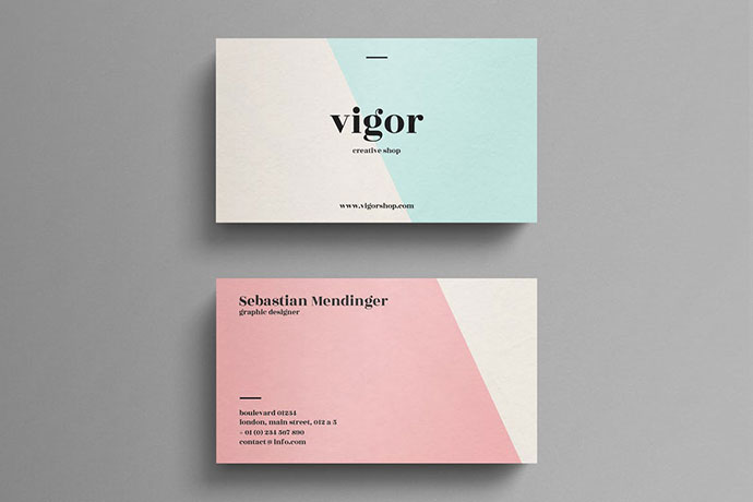 Elegant pastel business card template