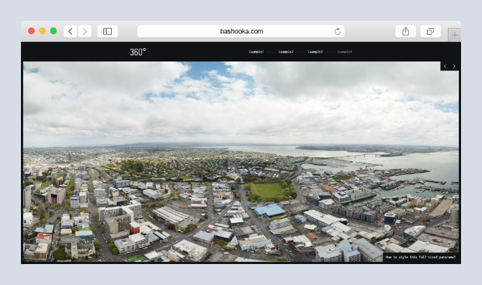 Flat 360 Panoramic Image Viewer