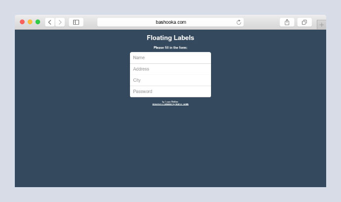 Floating Labels/Placeholders for Input Fields