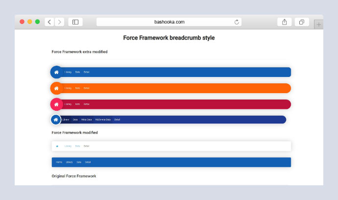 Force Framework breadcrumb style modified CSS