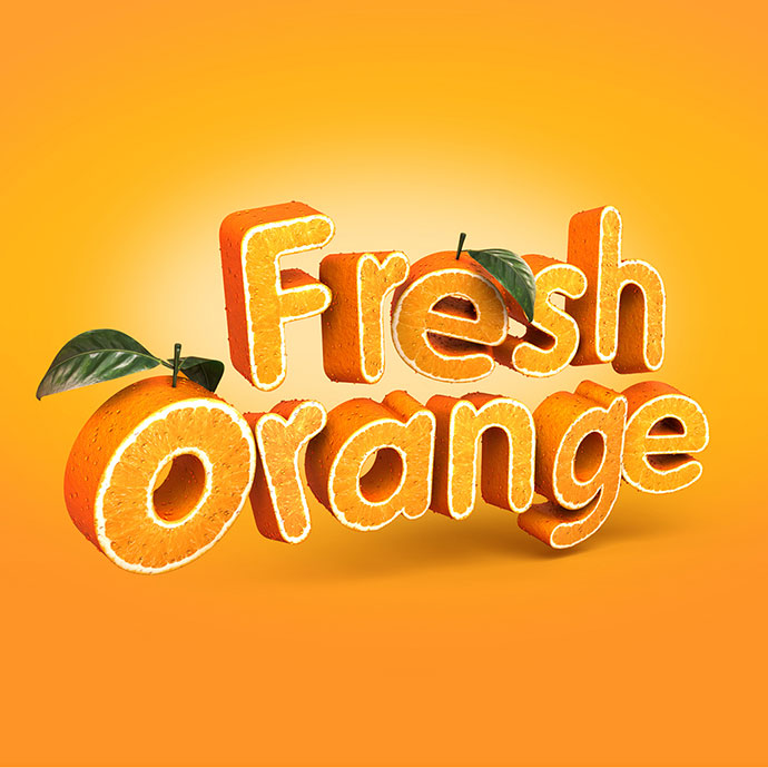 Fresh Orange - 3d Typography
