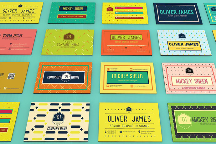 Fun Pattern Business Card