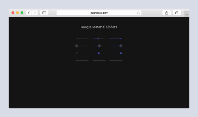Google Material Sliders