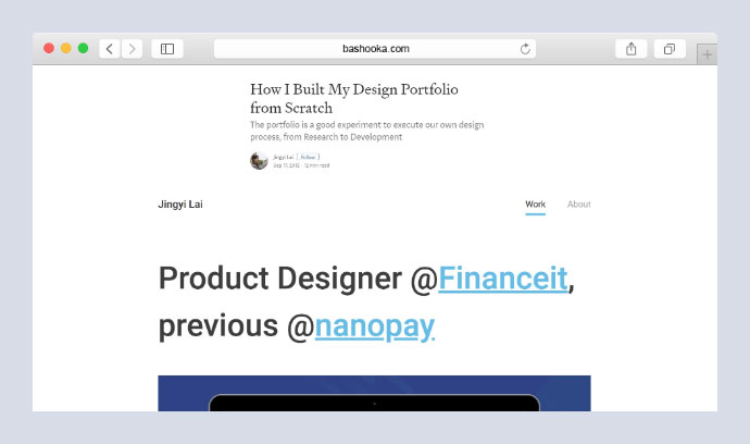 How I Built My Design Portfolio from Scratch