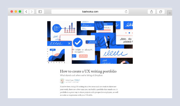 How to create a UX writing portfolio