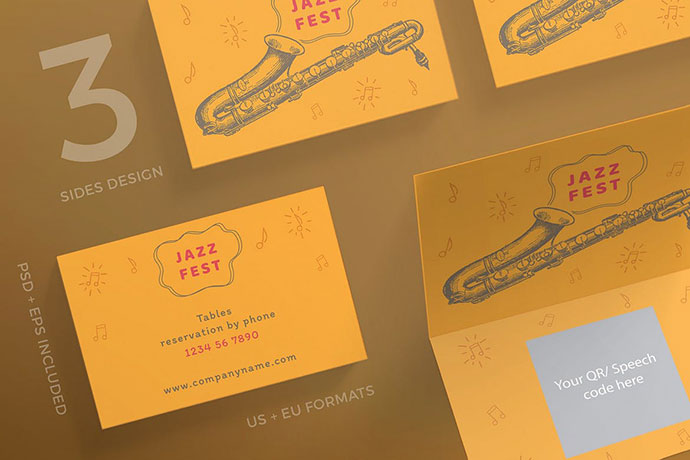 Jazz Festival Business Card Template