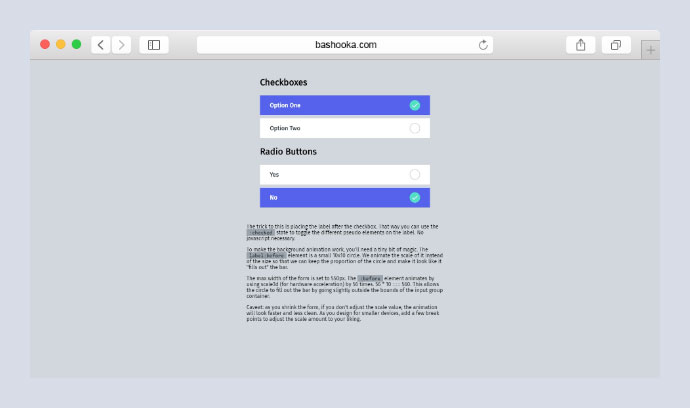 Material Inspired Checkboxes and Radio Groups