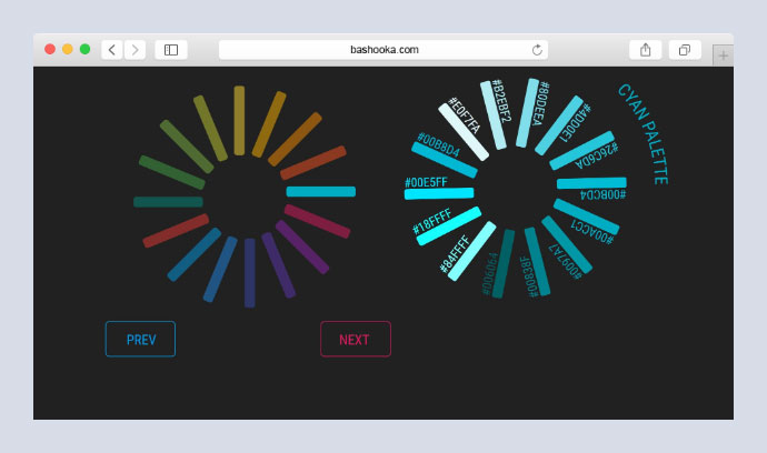 Material UI Circular Colour Palette made with Vue JS and GSAP