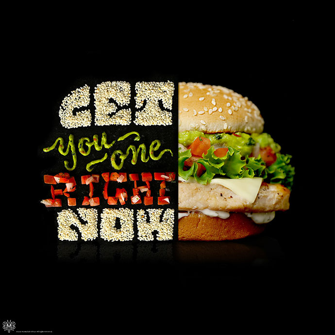 Mcdonald`s Signature Classics Food Typography