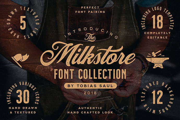 Milkstore Font CollectionCertified