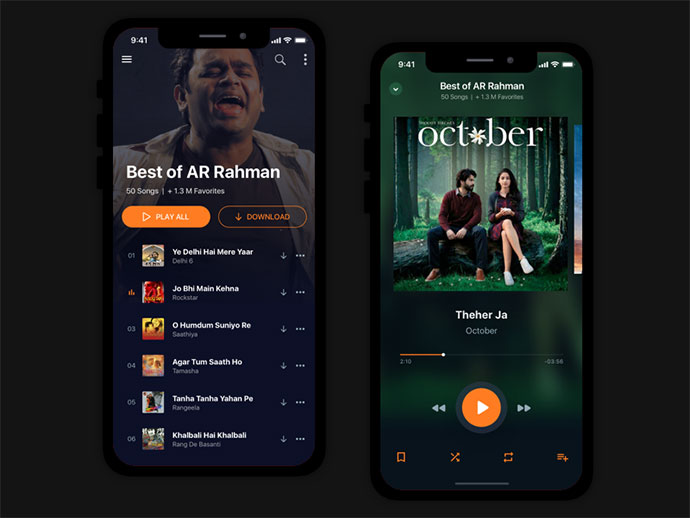 Music App Concept : Bollywood Songs & Radio