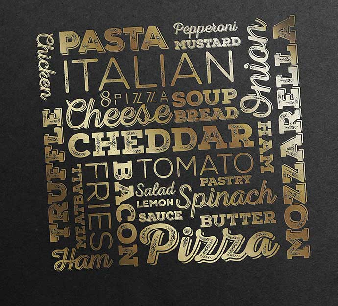 8pizza Restaurant Menu Branding
